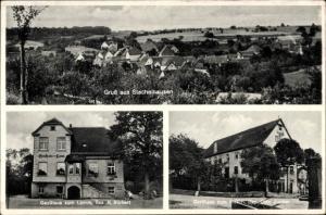 Ak Stachelhausen Baden-Würtemberg, Gasthaus zum Lamm, K. Bürkert, Gasthaus zum Hirsch, Otto Junker