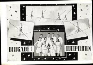 Ak Brigade der Luftpiloten, Hochseiltänzer, Gruppenbild