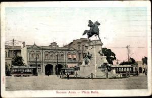 Ak Buenos Aires Argentinien, Plaza Italia