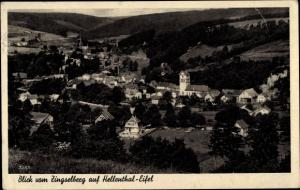 Ak Hellenthal in der Eifel in Nordrhein Westfalen, Panorama, Blick vom Zingselberg auf Hellenthal