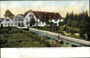 Präge Ak Villingen Schwenningen im Schwarzwald, Hotel und Pension Waldmühle