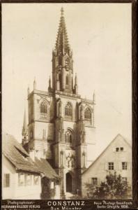 Foto Ak Konstanz am Bodensee, das Münster