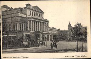 Ak Warszawa Warschau Polen, Großes Theater, Teatr Wielki