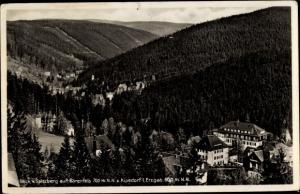 Ak Bärenfels Altenberg im Erzgebirge, Blick vom Spitzberg auf Bärenfels und Kipdsorf