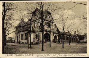 Ak Darmstadt in Hessen, Kaffee und Restaurant Heiliger Kreuzberg, Inh. N. Strohmenger