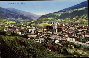 Ak Brixen Bressanone Südtirol, Totalansicht