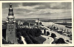 Ak Szczecin Stettin Pommern, Hakenterrasse