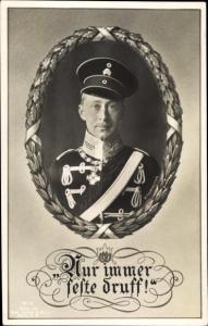 Passepartout Ak Kronprinz Wilhelm von Preußen, Portrait, Totenkopfhusar, Liersch