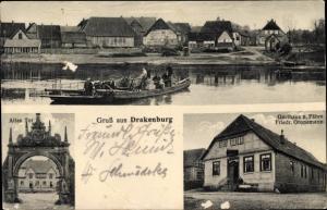 Ak Drakenburg Niedersachsen, Altes Tor, Gasthaus zur Fähre
