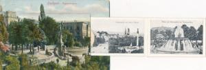 Leporello Ak Stuttgart Neckar, Eugensbrunnen, Schlossplatz, Musikpavillon, Königsbau