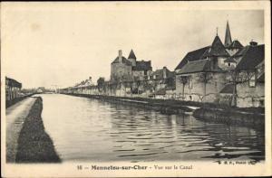 Ak Mennetou sur Cher Loir et Cher, Canal