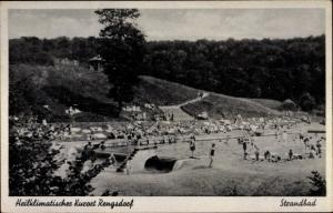 Ak Rengsdorf im Westerwald Rheinland Pfalz, Strandbad