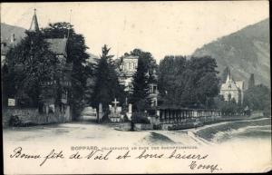 Ak Boppard am Rhein, Villenpartie, Rheinpromenade