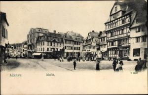 Ak Adenau im Kreis Ahrweiler Rheinland Pfalz, Markt
