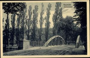 Ak Neumühl Duisburg im Ruhrgebiet, Emscherbrücke