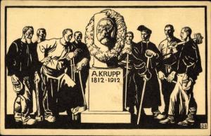 Künstler Ak Hundertjahrfeier der Firma Krupp 1912, Arbeiter