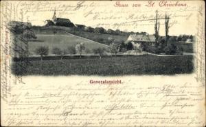 Ak Basel, Berg St. Chrischona, Kirche, Generalansicht