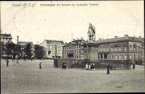Ak Kassel in Hessen, Friedrichsplatz, Denkmal des Landgrafen Friedrich