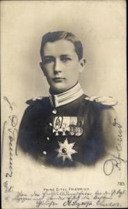 Ak Eitel Friedrich Prinz von Preußen, Portrait