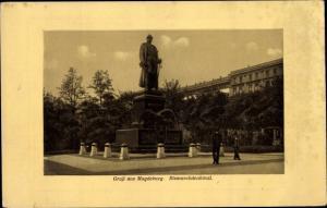 Ak Magdeburg in Sachsen Anhalt, Bismarckdenkmal