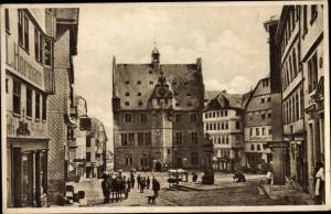 Ak Marburg an der Lahn, Marktplatz