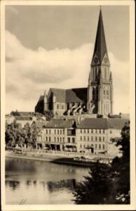 Ak Schwerin in Mecklenburg Vorpommern, Dom, Stadtansicht