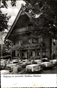 Ak Berlin Zehlendorf Wannsee Nikolskoe, Gaststätte Blockhaus Nikolskoe