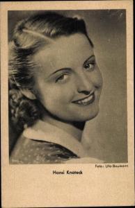 Ak Schauspielerin Hansi Knoteck, Portrait