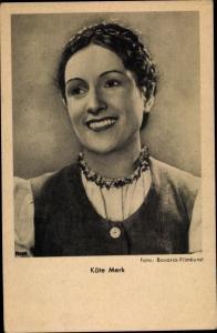 Ak Schauspielerin Käte Merk, Portrait