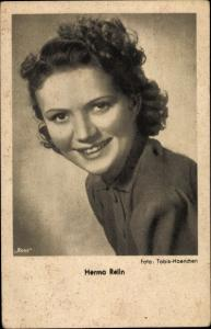 Ak Schauspielerin Herma Relin, Portrait