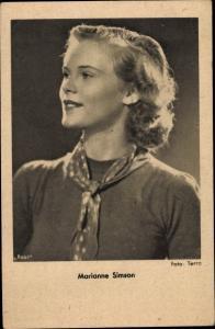 Ak Schauspielerin Marianne Simson, Portrait
