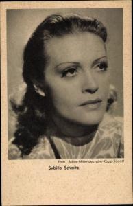 Ak Schauspielerin Sybille Schmitz, Portrait