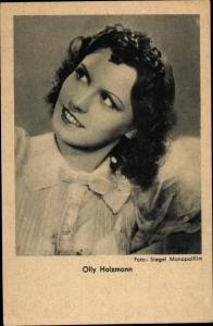 Ak Schauspielerin Olly Holzmann, Portrait