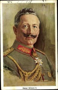 Künstler Ak S. Horneit, Kaiser Wilhelm II.