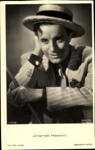 Ak Schauspieler Johannes Heesters, Portrait mit Hut