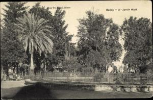 Ak Blida Algerien, Jardin Bizot