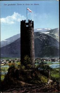 Ak Gries Bozen Bolzano Südtirol, Der gescheibte Turm