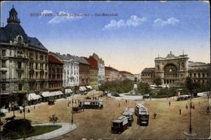 Ak Budapest Ungarn, Ost Bahnhof