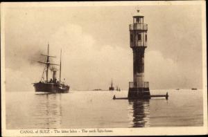 Ak Ägypten, Suez Kanal, Leutturm
