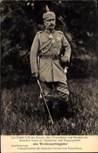 Ak Kaiser Wilhelm II. von Preußen, Uniform, Portrait