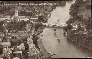 Ak Henley-on-Thames South East England, Aerial View