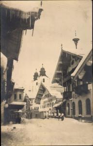 Ak St Johann in Tirol, Straße im Winter