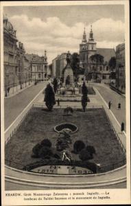 Ak Kraków Krakau Polen, Denkmal, Grob Nieznanego Zolnierza