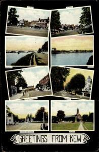 Ak Kew London Borough of Richmond upon Thames, Straßenpartie, Flusspartie, Brücke