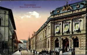 Ak Kaiserslautern in Rheinland Pfalz, Ortsansicht, Theaterstraße mit Hauptpostamt