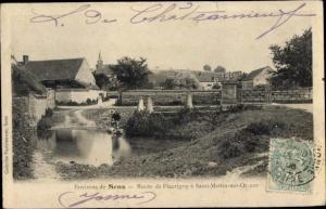 Ak Sens Yonne, Route de Fleurigny a Saint Martin sur Oreuze