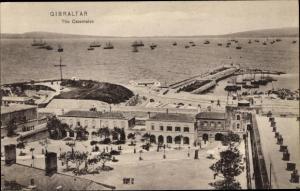 Ak Gibraltar, The Casemates, Hafenpartie