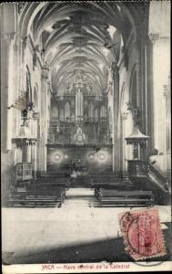 Ak Jaca Aragonien, Nave central de la catedral