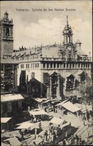 Ak Valencia Stadt Spanien, Iglesia de los Santos Juanes