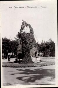 Ak Santander Kantabrien Spanien, Monumento a Pereda